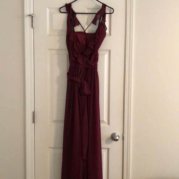 Bill Levkoff Dresses Full Length Formal Wrap Dress Poshmark